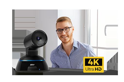 Une véritable expérience face à face, avec la caméra 4K PTZ
