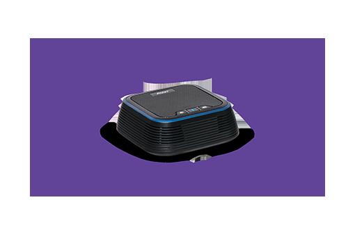 Puissant téléphone à haut-parleur, capturant le son sur 360°